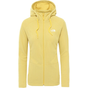 The North Face Mezzaluna Capuchon Trui met Doorlopende Rits Dames, bamboo yellow stripe